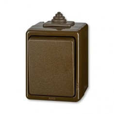 3553-06929 H prep.striedavý IP44 hnedý