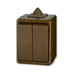 3553-05929 H prep.seriový IP44 hnedý