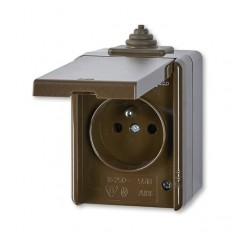 5518-2929 H zásuvka IP44 hnedá