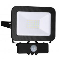 Reflektor LED 20W/4000K/BK+PIR