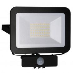 Reflektor LED 30W/4000K/BK+PIR
