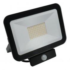 Reflektor LED 50W/4000K/BK+PIR