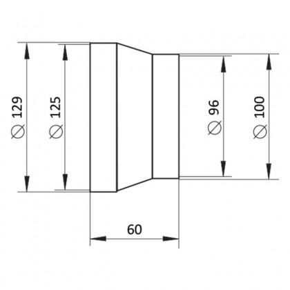 211p-prechodka plastova 10-12,5cm